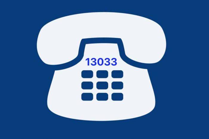 Η αποστολή SMS στο 13033 δεν έχει χρέωση