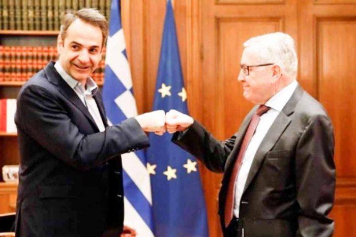 Τον Κλάους Ρέγκλινγκ δέχθηκε σήμερα ο πρωθυπουργός Κυριάκος Μητσοτάκης
