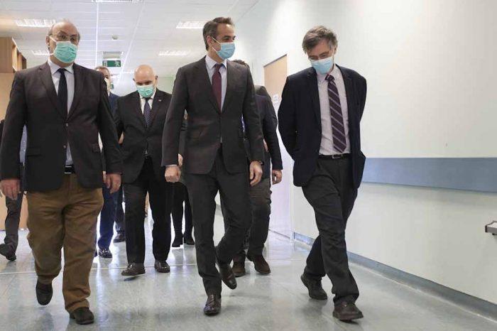 Ο Πρωθυπουργός Κυριάκος Μητσοτάκης, στο Εθνικό Κέντρο Αιμοδοσίας