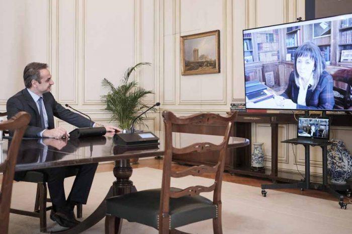 Τηλεδιάσκεψη του Πρωθυπουργού  με την Πρόεδρο της Δημοκρατίας