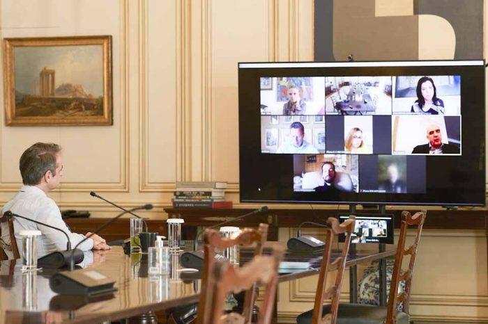Ο Πρωθυπουργός συμμετείχε σε τηλεδιάσκεψη της Κ.Ο. των ευρωβουλευτών της Ν.Δ