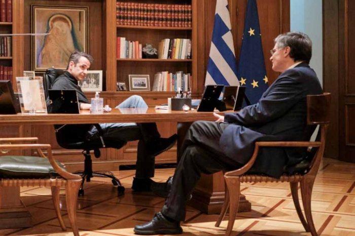 Σύσκεψη του Πρωθυπουργού, με τον Σωτήρη Τσιόδρα
