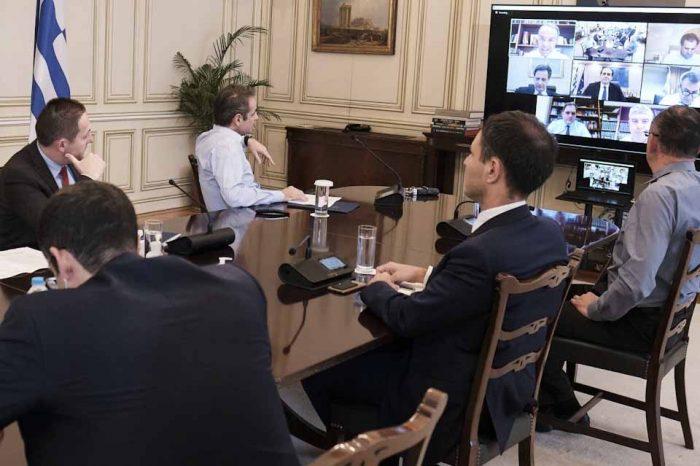 Τηλεδιάσκεψη του Πρωθυπουργού, για τα μέτρα και την πορεία υλοποίησής τους