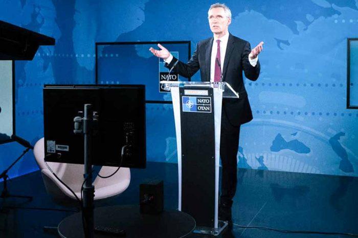 Ο υπουργός Εξωτερικών Νίκος Δένδιας,στη σύνοδο του ΝΑΤΟ