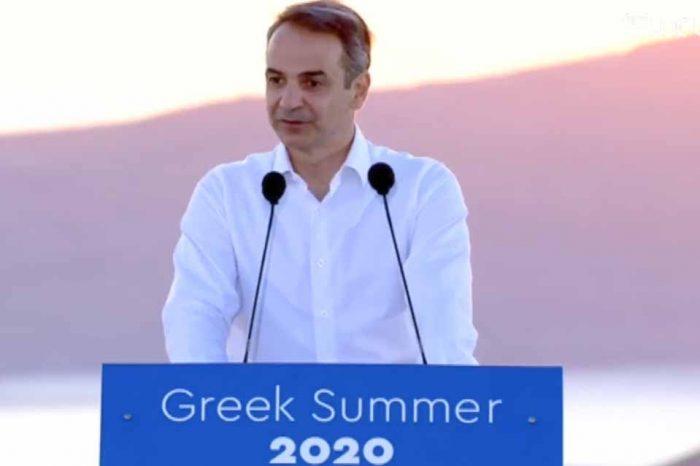 Η Συνέντευξη Τύπου του Πρωθυπουργού για την επαναλειτουργία του ελληνικού τουρισμού από τη Σαντορίνη