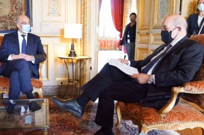 Η συνάντηση του Ν.Δένδια με τον με τον  Ζαν-Ιβ Λε Ντριάν