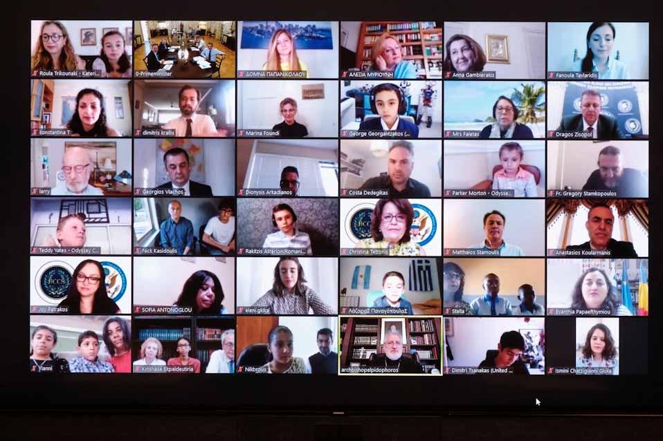 Ο Πρωθυπουργός σε τηλεδιάσκεψη με μαθητές από κάθε γωνιά του κόσμου