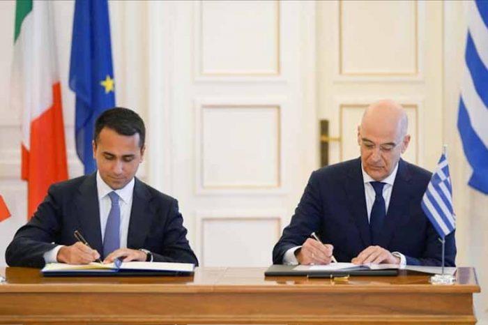 Ιστορική συμφωνία οριοθέτησης ΑΟΖ  μεταξύ Ελλάδος και Ιταλίας