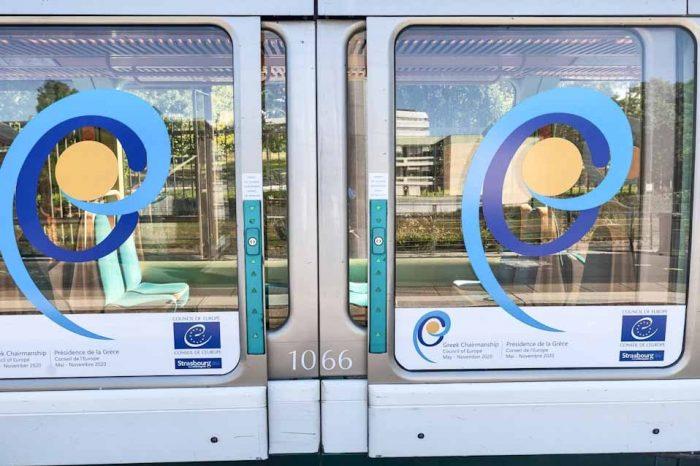 Με Ελληνικό λογότυπο το τραμ του Στρασβούργου