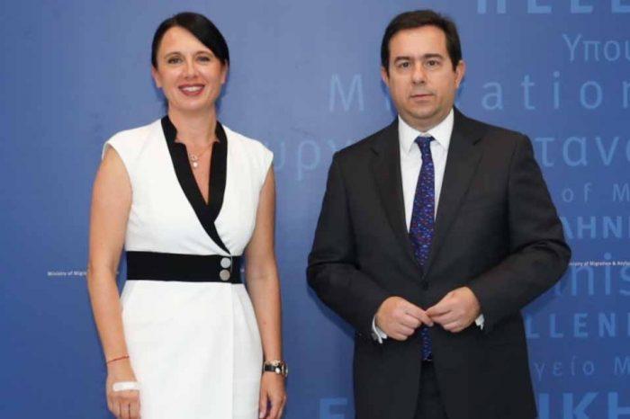 Συνάντηση του Ν. Μηταράκη με την εκτελεστική διευθύντρια του EASO, Ν. Γκρέγκορι
