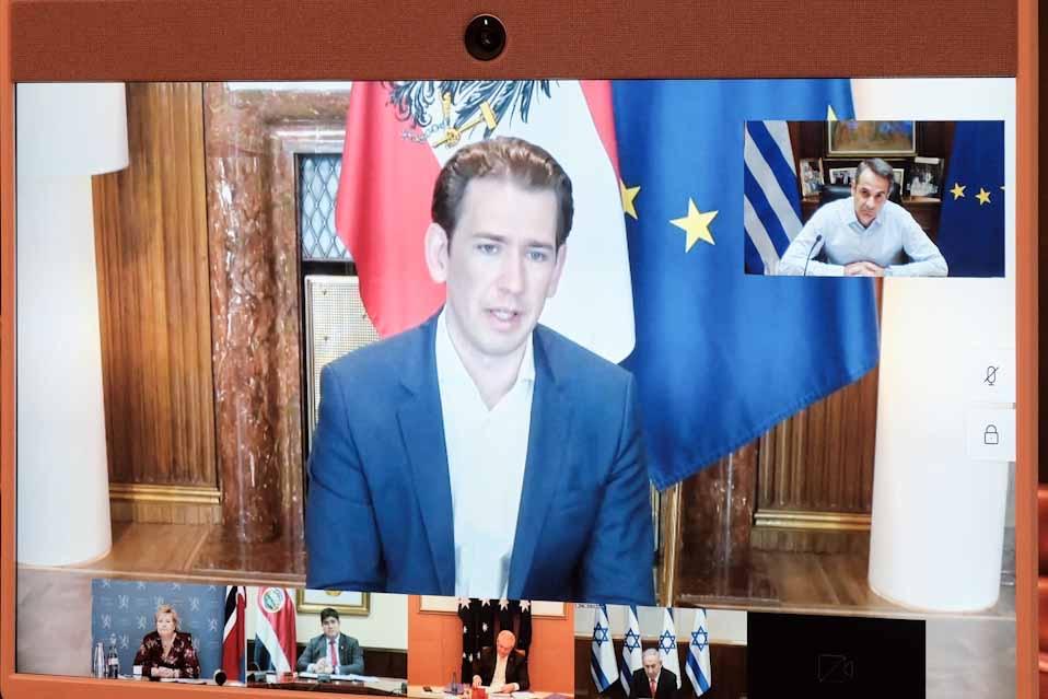 Τηλεδιάσκεψη του Πρωθυπουργού και των ηγετών των χωρών   του Smart Covid-19 Management Group