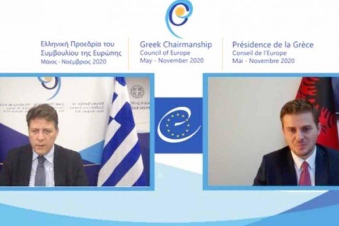 Σε Τηλεδιάσκεψη ο Μ. Βαρβιτσιώτης με τον υπουργό Εξωτερικών της Αλβανίας