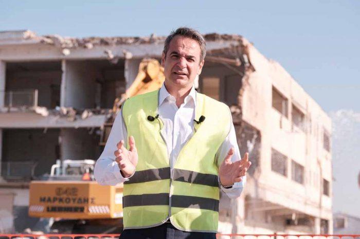 Στην τελετή έναρξης των εργασιών στο Ελληνικό, παρέστη σήμερα ο πρωθυπουργός