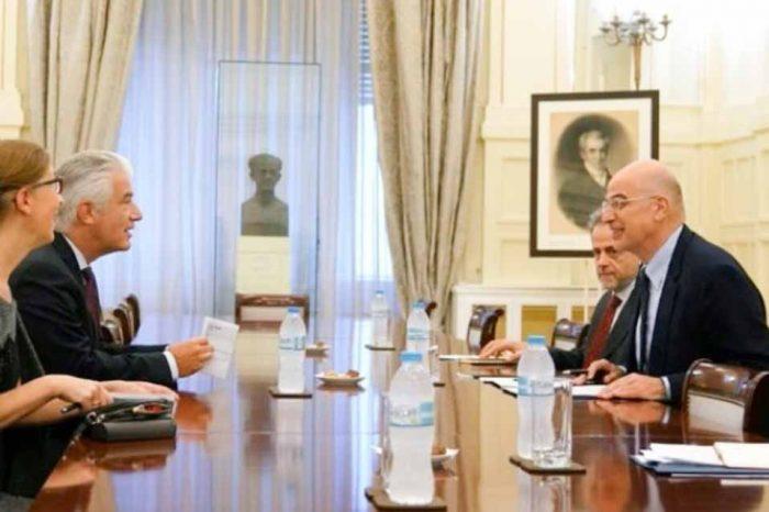 Συνάντηση του Νίκου Δένδια, με τον πρέσβη της Γερμανίας Έρνστ Ράιχελ