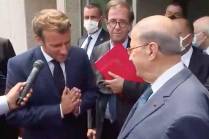 Στο Λίβανο, ο Γάλλος πρόεδρος Εμανουέλ Μακρόν