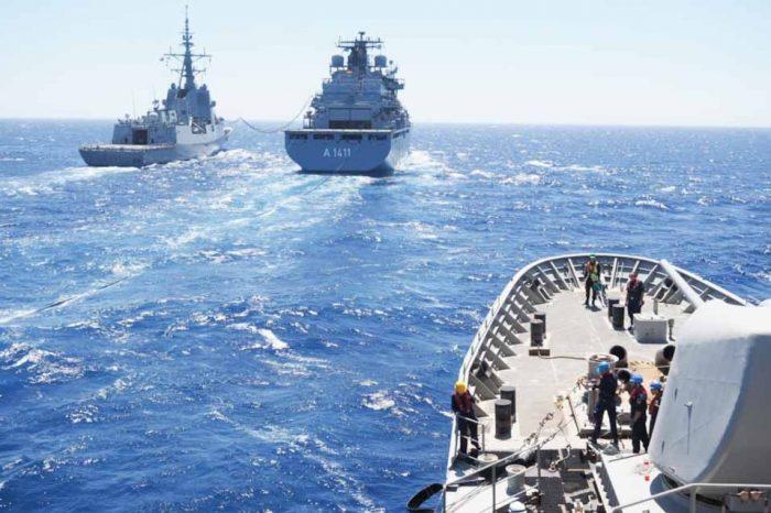 Συνεκπαίδευση της Φ/Γ «ΨΑΡΑ» με γερμανικό Πλοίο και ισπανική φρεγάτα