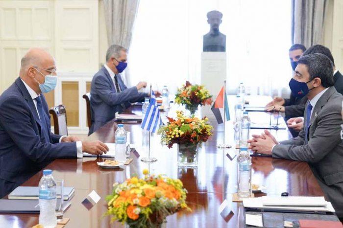 Νίκος Δένδιας: Στρατηγικές οι σχέσεις Ελλάδας και Ηνωμένων Αραβικών Εμιράτων