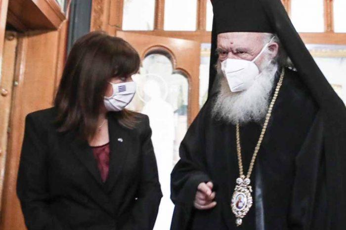 Συνάντηση της ΠτΔ με τον Αρχιεπίσκοπο Ιερώνυμο