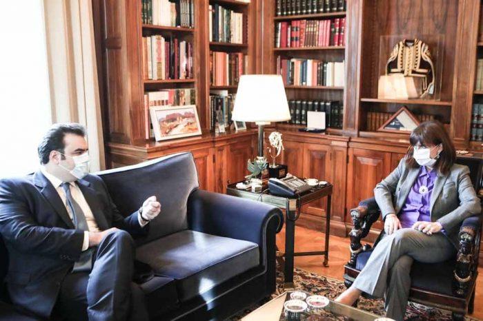 Συνάντηση της ΠτΔ, με τον υπουργό Επικρατείας και Ψηφιακής Διακυβέρνησης