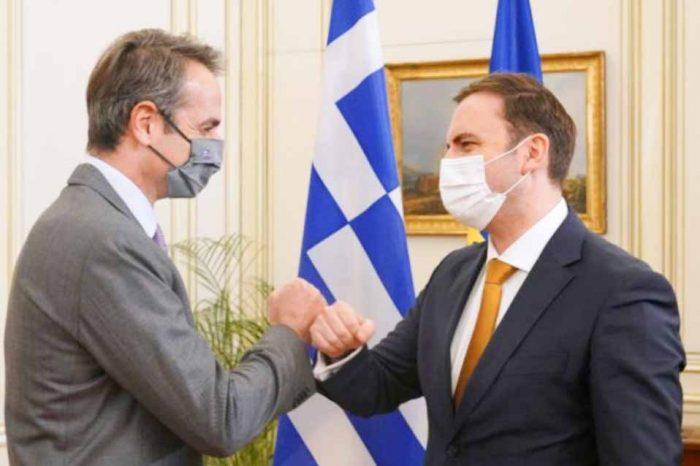 Συνάντηση του Πρωθυπουργού με τον  ΥΠΕΞ της Βόρειας Μακεδονίας