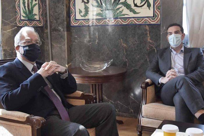 Συνάντηση του Αλέξη Τσίπρα με τον Κώστα Τασούλα