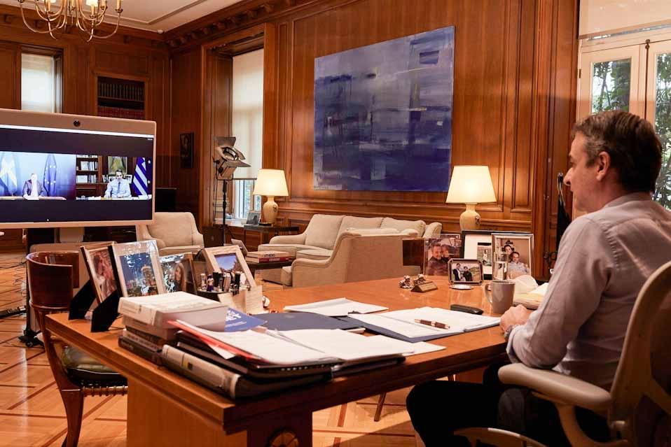 O Πρωθυπουργός,  είχε σήμερα τηλεδιάσκεψη με τον Πρωθυπουργό της Σουηδίας
